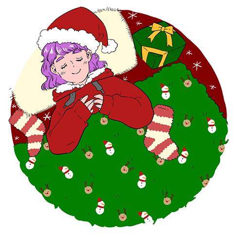 크리스마스를 앞둔 산타